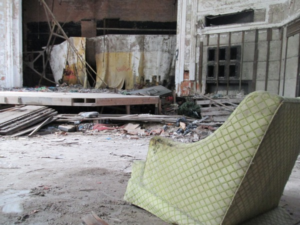 Best seat in the house. City Methodist Church, Gary, Indiana